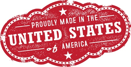 Vintage Made in the United States USA Label Illustration