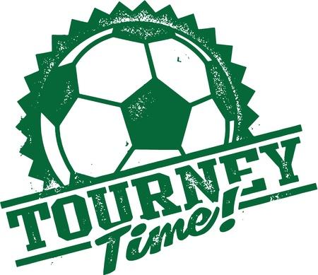 Fußball-Fußball-Turnier Zeit Standard-Bild - 19744116