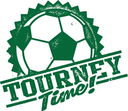 Voetbal-Voetbal Toernooi Tijd Stock Illustratie