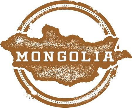 Mongolie Asie Pays du timbre Banque d'images - 20341478