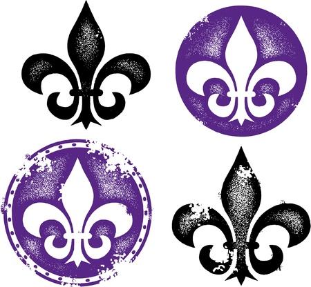 Distressed Fleur De Lis Designs