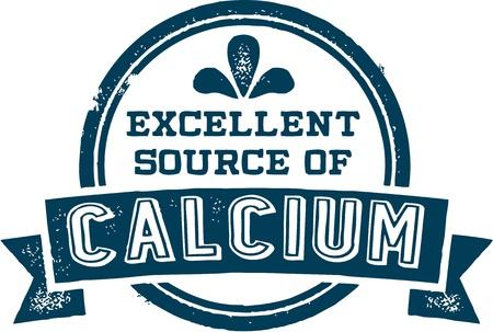Uitstekende bron van calcium Stock Illustratie