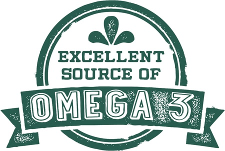 Excellent Source of Omega 3 Fatty Acids Vectores