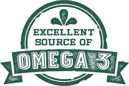 Excellent Source of Omega 3 Fatty Acids Illustration