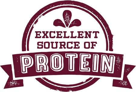 Uitstekende bron van eiwitten Stock Illustratie