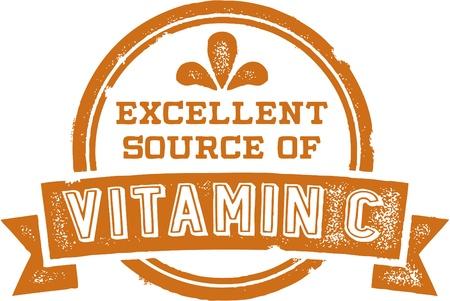 Excellent Source of Vitamin C Stock Vector - 20446415