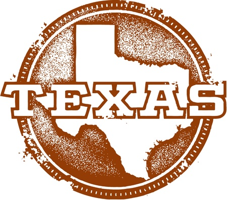 Vintage Texas State Stamp Vector