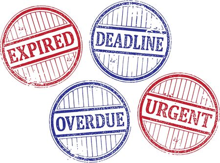Expired and Deadline Rubber Stamps