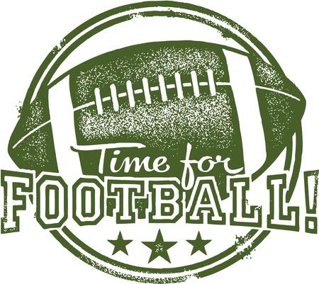 ビンテージ: フットボールのための時間  イラスト・ベクター素材
