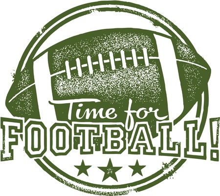 voetbal silhouet: Tijd voor voetbal