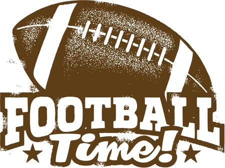 vintage grunge image: Football americano timbro design