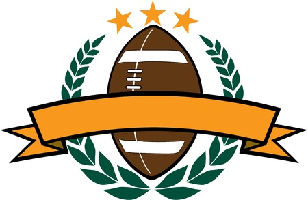 American Football Wreath Design Vector