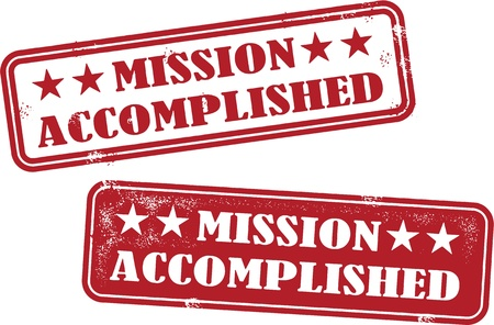 Mission Accomplished Stock Vector - 20895473
