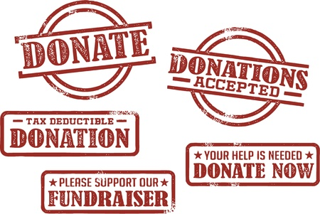 Donation Fundraiser Rubber Stamps