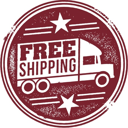 ship sign: Free Shipping Promotion Graphic