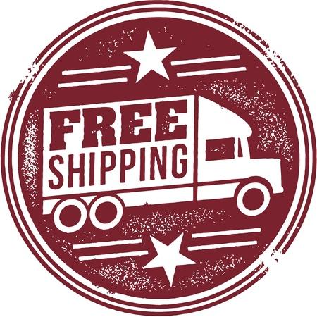 Freie Verschiffen-Förderung Graphic Standard-Bild - 21386266