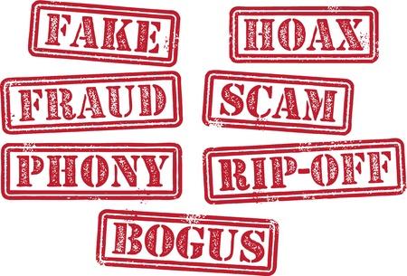 Fake Hoax Bogus Fraude Scam Postzegels