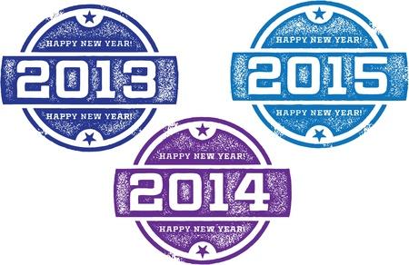 Happy New Year Stamps Zdjęcie Seryjne - 21549067