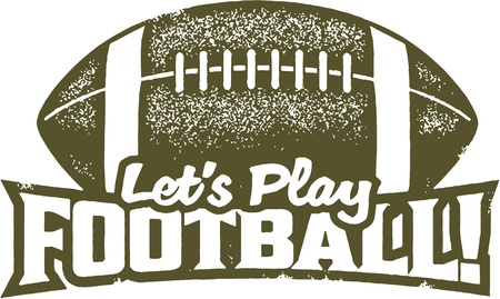 football play: Let s Play Football Sport francobolli Vettoriali