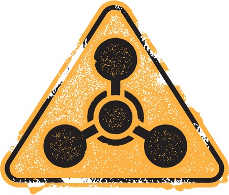 Chemical Weapon Icon Symbol Vettoriali