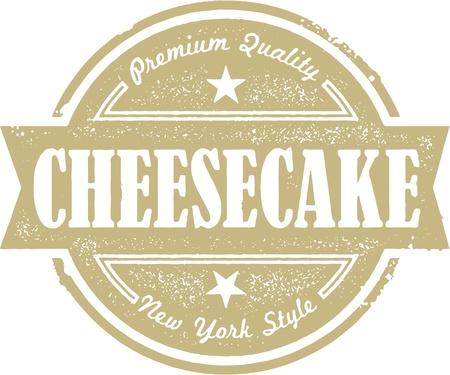 ニューヨークのチーズケーキ  イラスト・ベクター素材