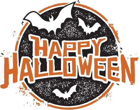 Happy Halloween Stamp Vector