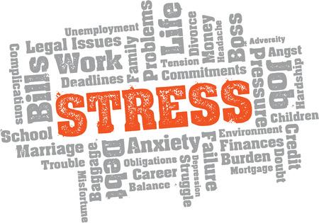 Problemas de estrés nube de palabras Foto de archivo - 23116961