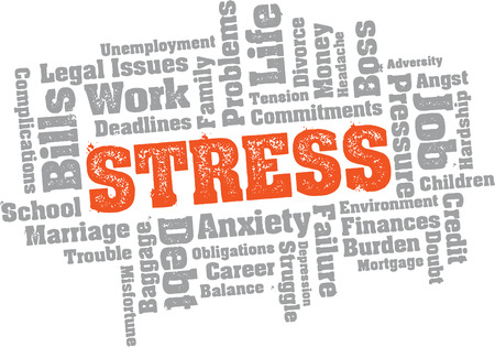 Stress Problems Word Cloud Vector