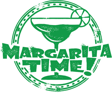 Margarita Cocktail Stamp Vector