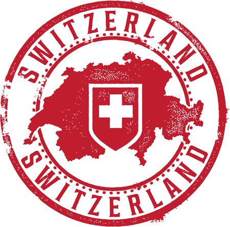 Schweiz Land Stempel Standard-Bild - 25666693
