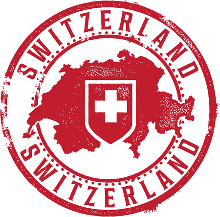 Switzerland Country Stamp Vector