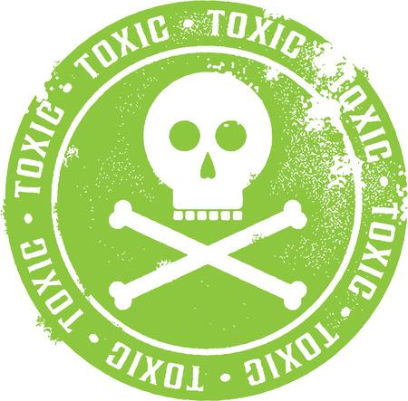 desechos toxicos: Tóxico Peligro sello Vectores