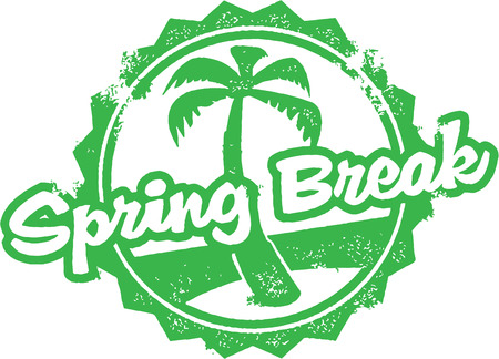 spring: Spring Break Rubber Stamp