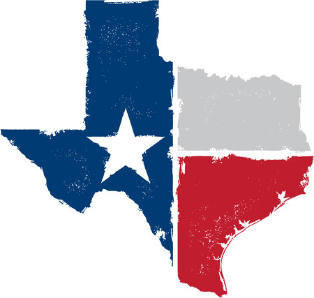 Distressed Texas State Vector Illustration
