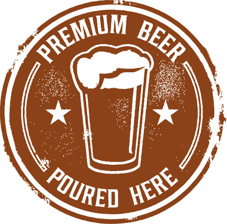poured: Premium Beer Poured Here Bar Sign