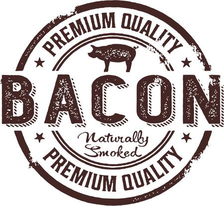 Premium Bacon Vintage Stamp Sign