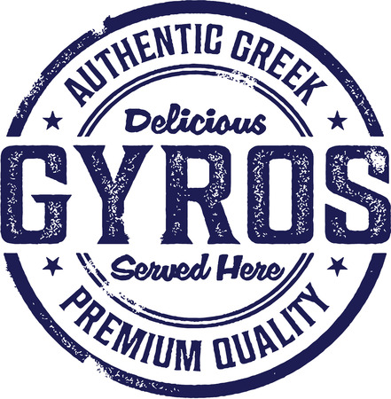 Vintage Style Greek Gyros Sign