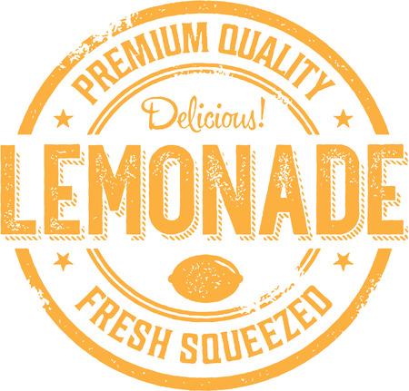 復古風格檸檬水符號標籤 向量圖像