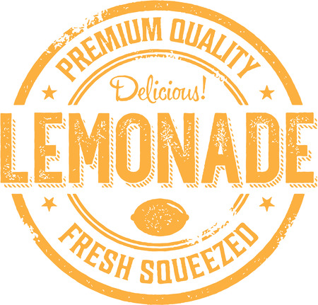 yummy: Vintage Style Lemonade Sign Label
