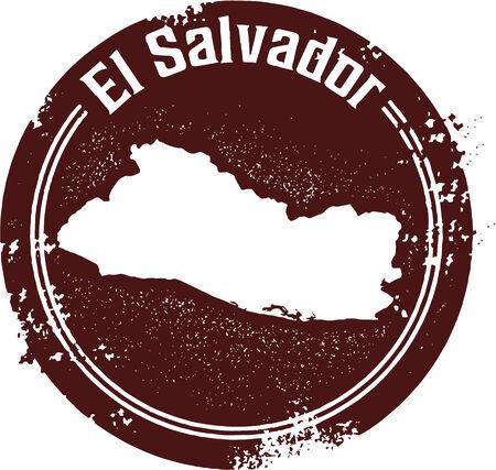 mapa de el salvador: Sello El Salvador país centroamericano Vectores