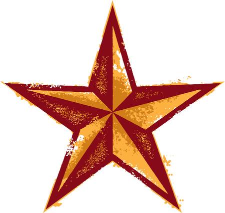 země: Grunge Western Style hvězda Ilustrace