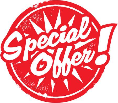 Marketing de l'offre spéciale ou Stamp détail