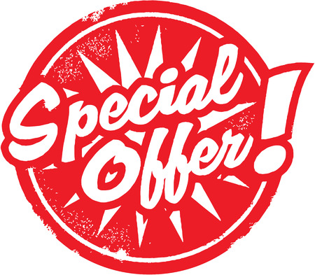 Special Offer Marketing or Retail Stamp Vector