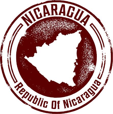 central: Nicaragua Midden-Amerika Stamp Stock Illustratie