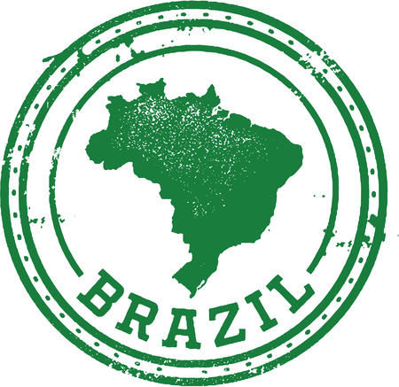 Brazil South American Travel Stamp Vector