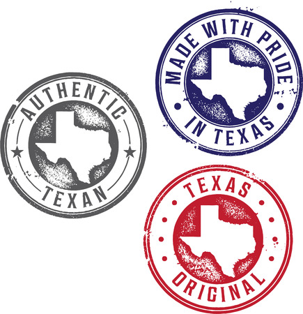 Vintage Texas State Rubber Stamps Vector