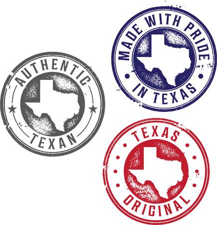 Weinlese-Staat Texas-Stempel Illustration