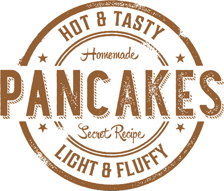 Hot Pancakes Breakfast Stamp