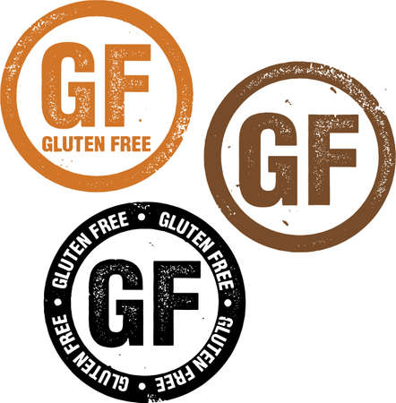 gluten: Gluten Free Food Stamp Illustration