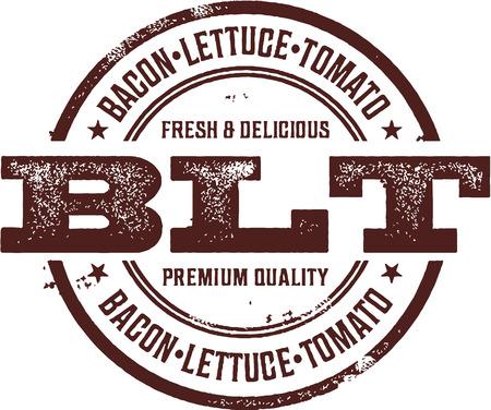 ベーコン レタス トマト BLT サンドイッチ スタンプ